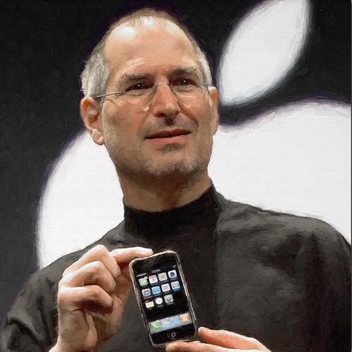 Steve Jobs Portrait Painting SQUARE