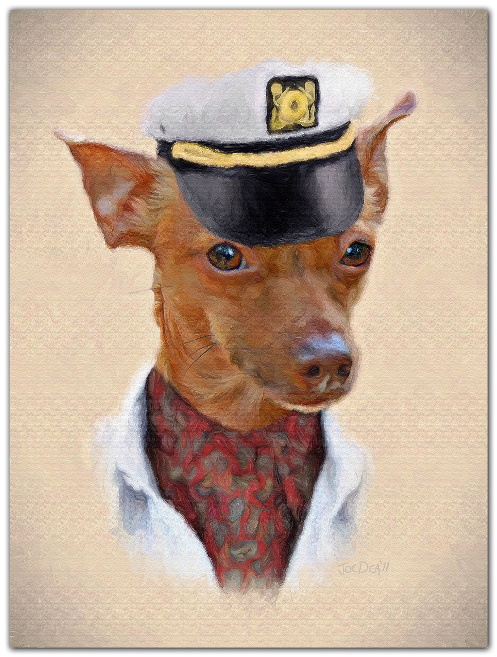 Chihuahua dog painting