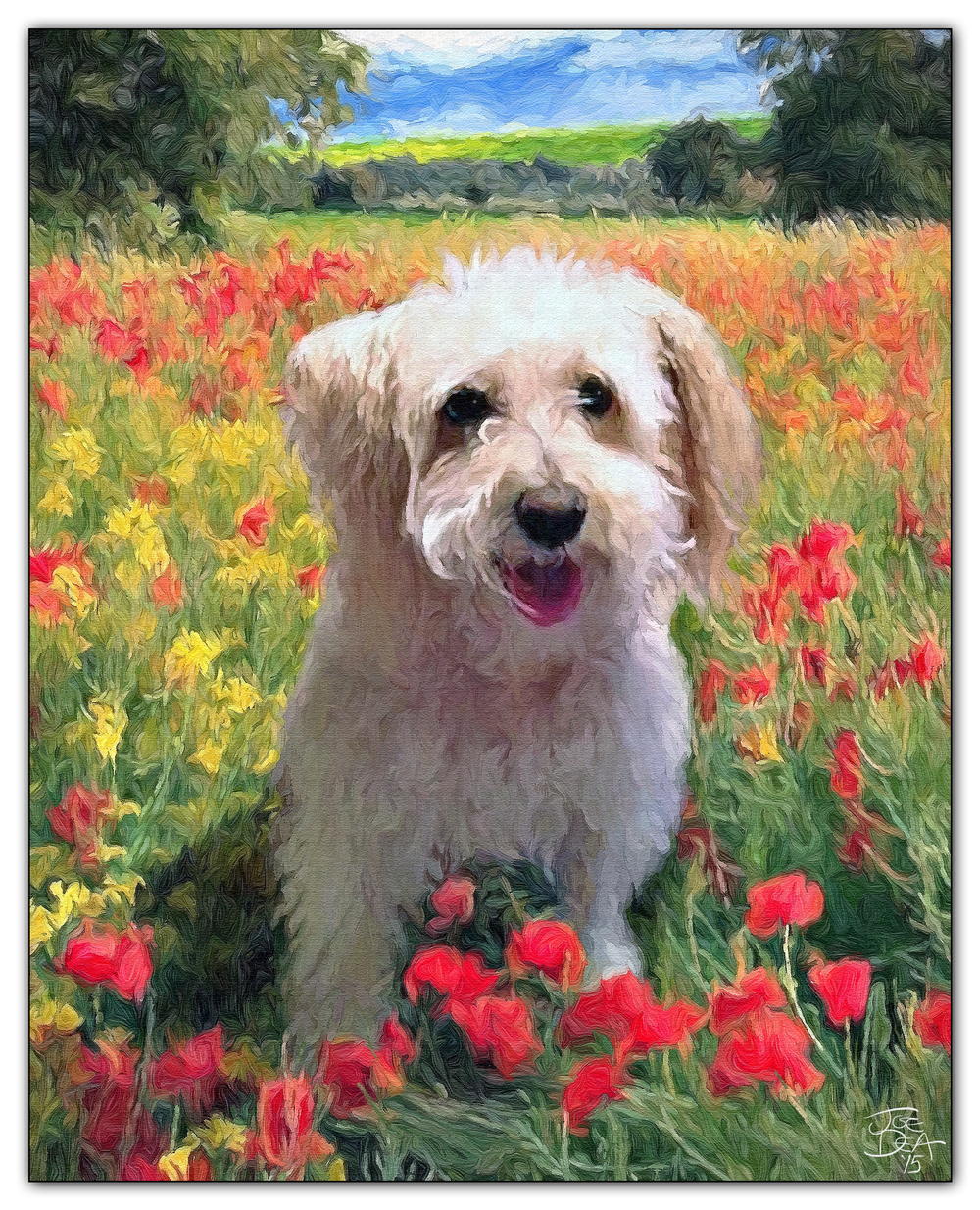 dog oil painting artist