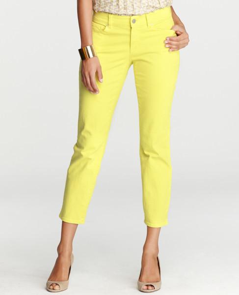 Curvy Cropped Denim Jeans- Ann Taylor