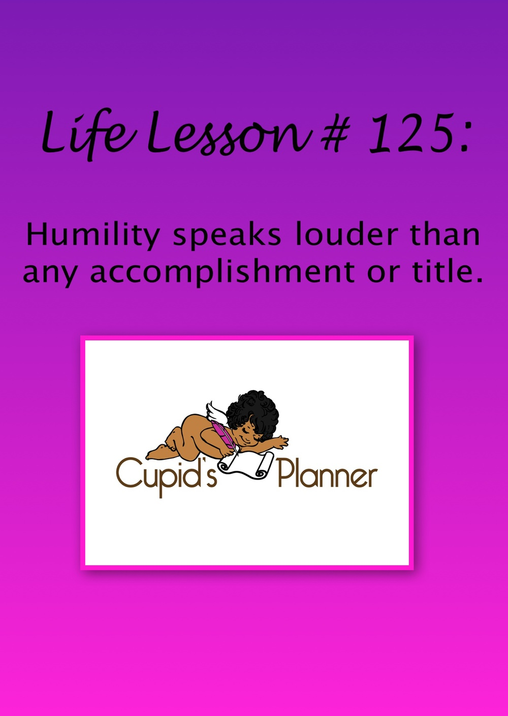 Life Lesson on Humility