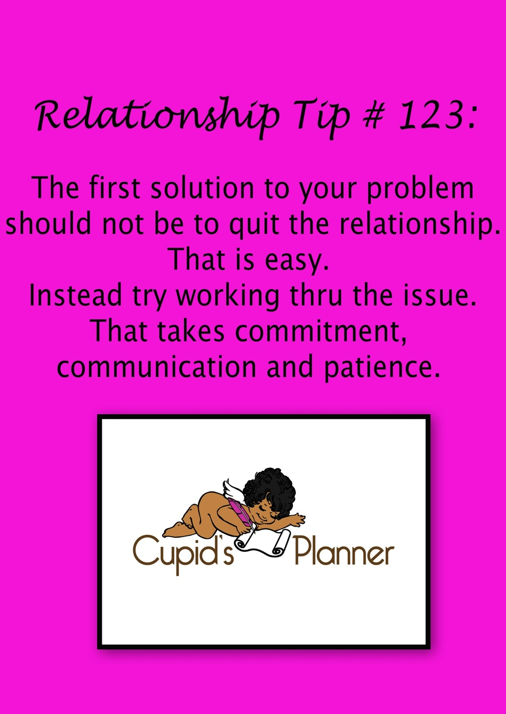 Relationship Tip: Work thru relationship problems
