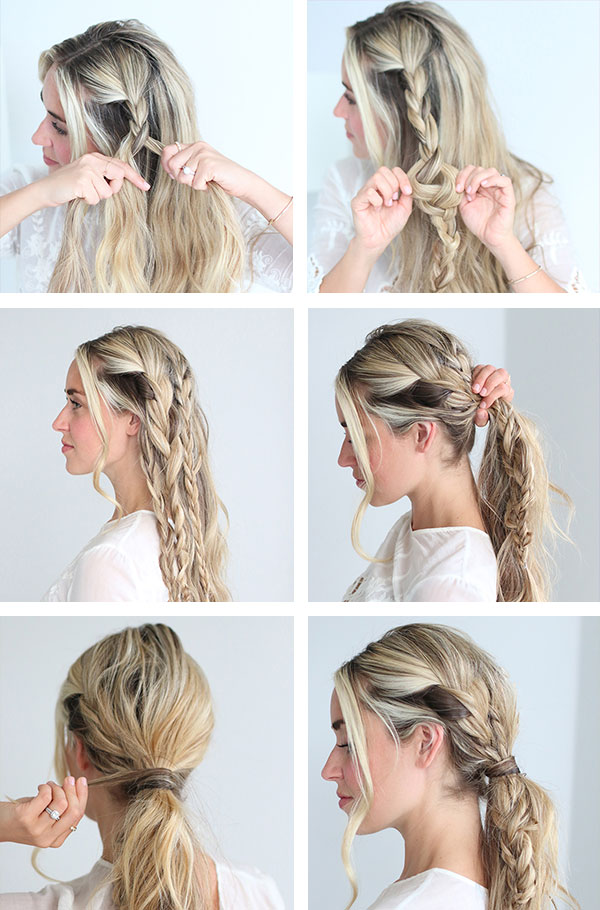 Messy updo hairstyles tutorial
