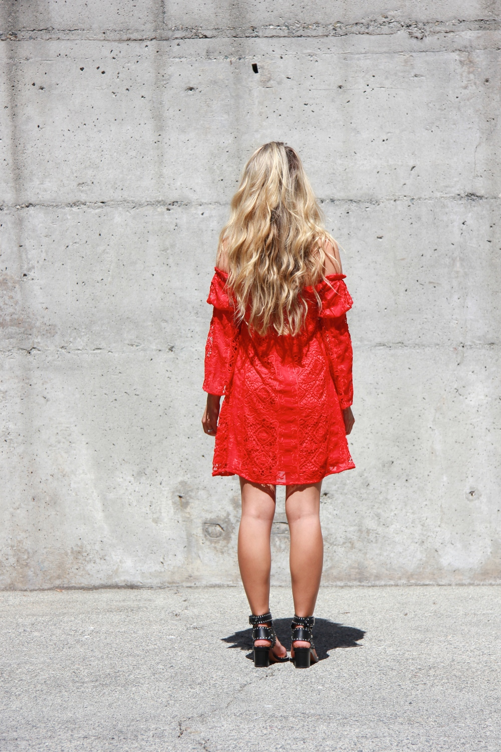 For Love & Lemons Dress via Revolve, Céline Shades, Isabel Marant Sandals