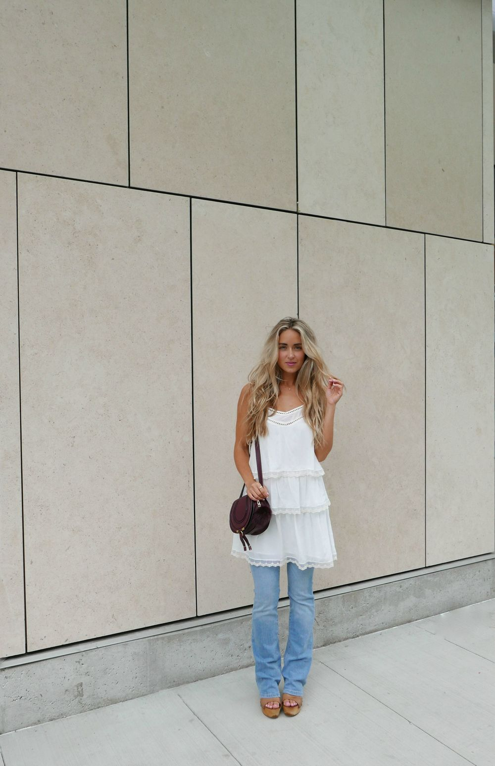 Anine Bing  Dress,  F21   Jeans ,  Chloé  Bag via  MonnierFreres,   Ash  Shoes,