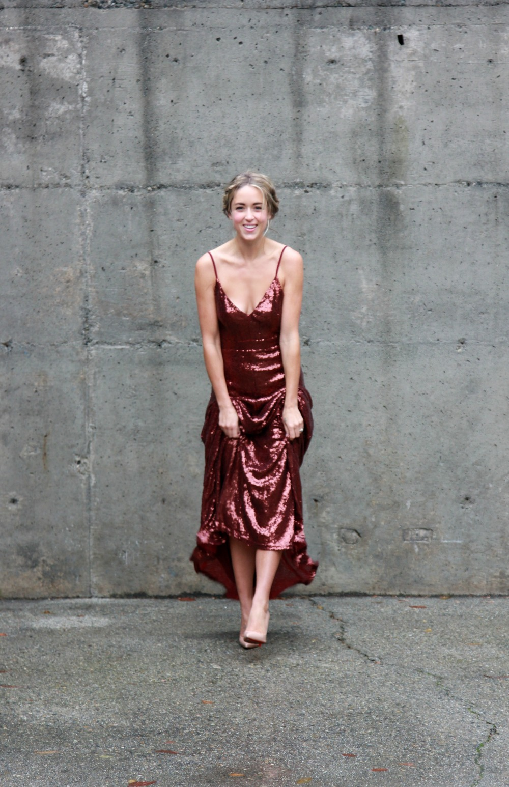 Lulu's Maxi Dress, Christian Louboutin Heels
