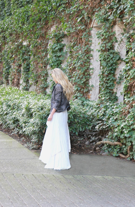 BCBGMaxazria  Dress, Muubaa Jacket ( similar ),  Stuart Weitzman  Heels