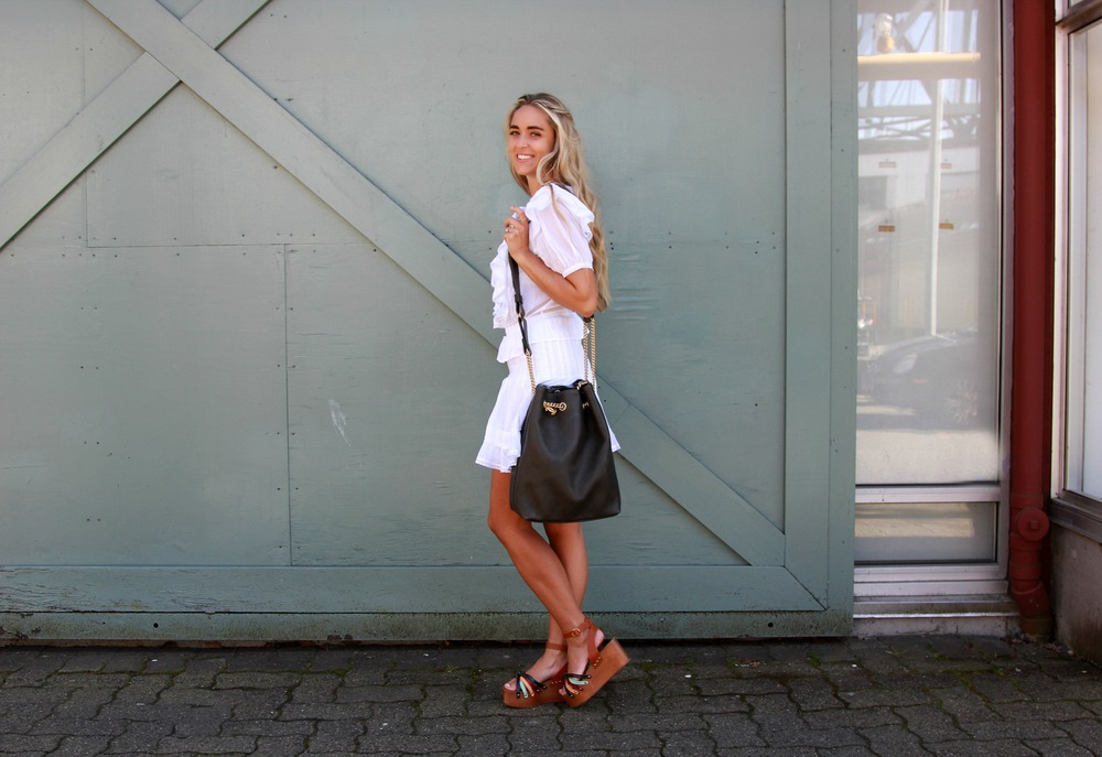 Isabel Marant Dress & Shoes, Chanel Bucket Bag