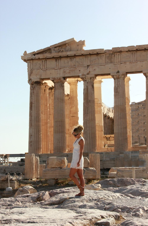 Lulus Nude Dress. Tularosa White Dress via Revolve