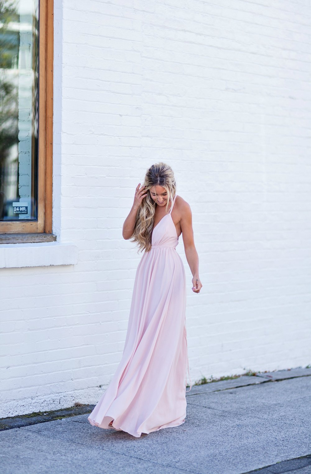 Photography by Allison Kuhl Lulus Flutter Dress, Alexandre Birman Sandals