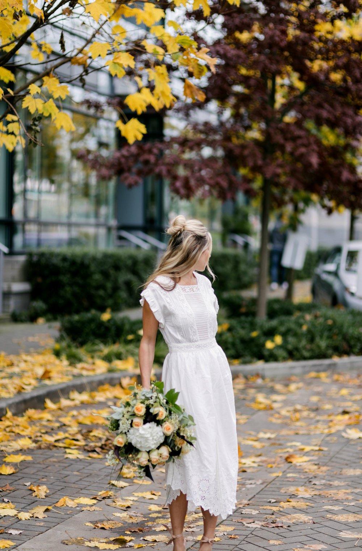 Photography by Allison Kuhl Ulla Johnson Dress, Alexandre Birman Heels