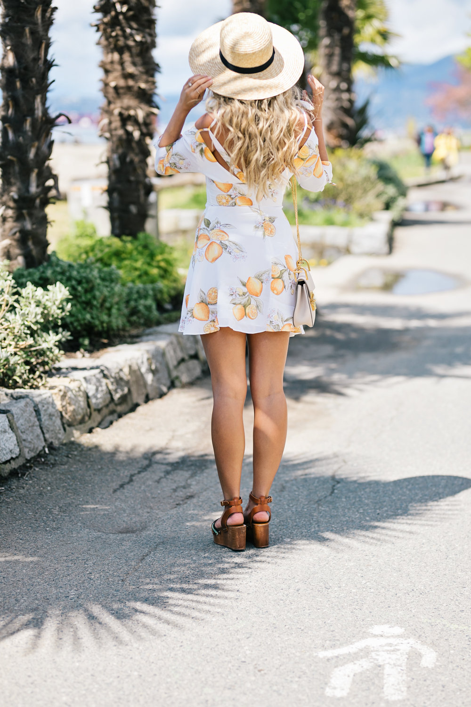 Photos by Allison Kuhl For Love and Lemons Dress, Lack of Colour Hat, Isabel Marant Etoile Sandals, Chloé Bag Melanie Auld CJxMA Collection Earrings - Launching June 1st