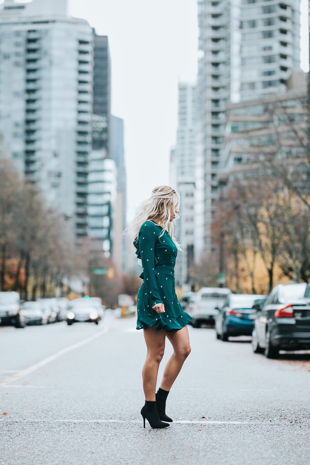 Photos by Allison Kuhl  Lulus   Dress ,  Earrings  &  Boots