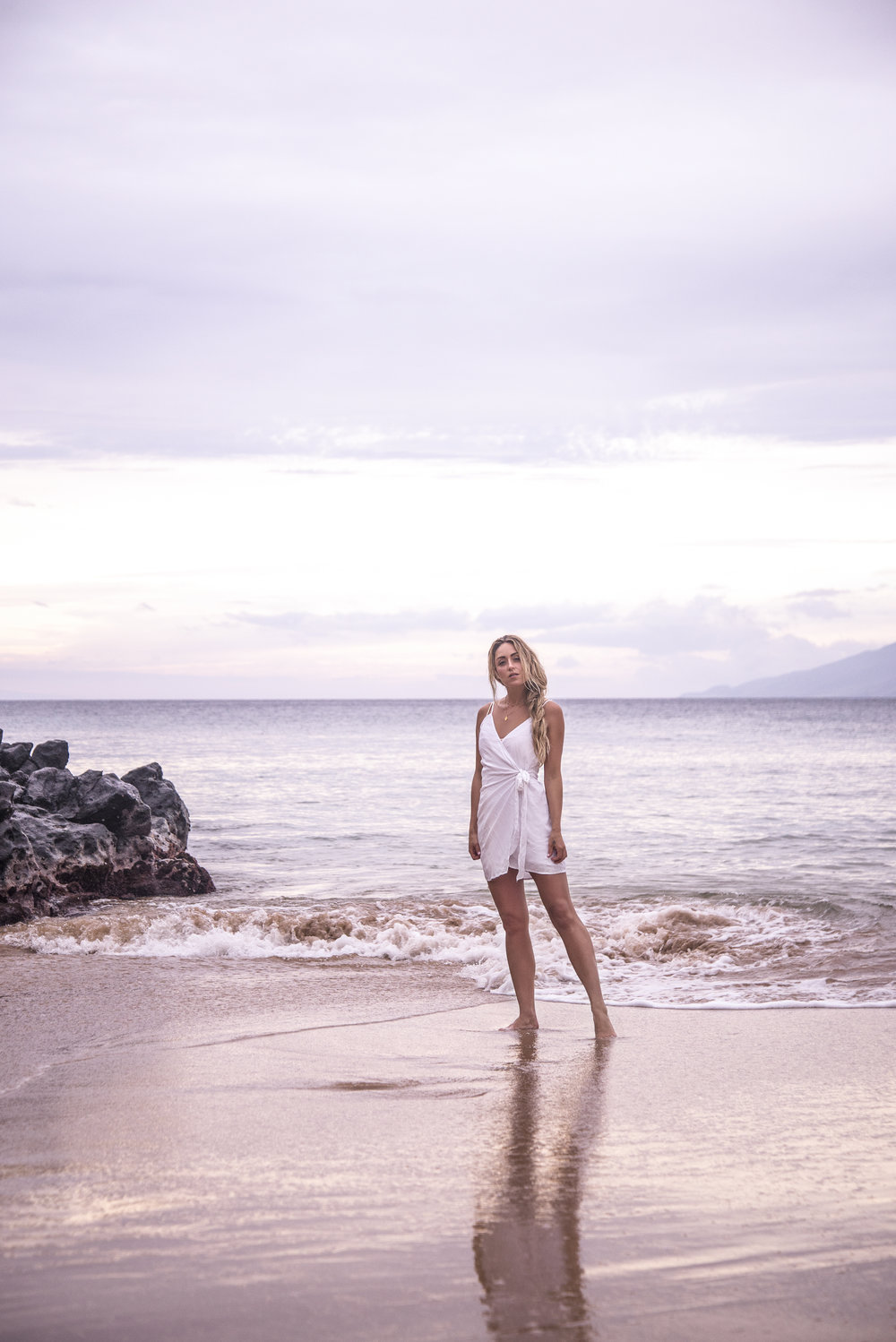Photos by  Cibelle Levi   C/MEO  Dress via  Lulus ,  White Wrap Dress  Via  Lulus