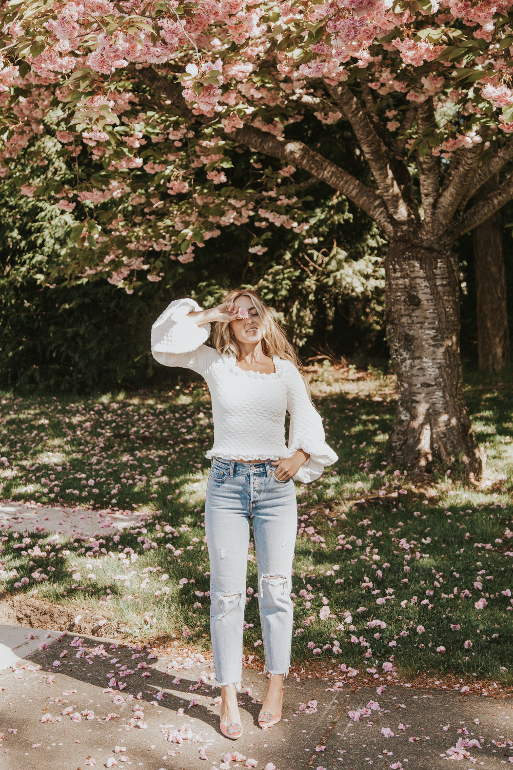 Nala Official Top, Levi's Jeans, Manolo Blahnik Heels,  Alexa Leigh  Necklace Photos by Paige Owen