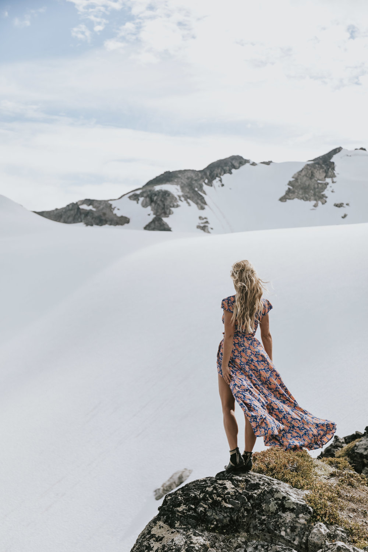 Tularosa Dress via  Revolve , Anine Bing Boots Photos by  Allison Kuhl