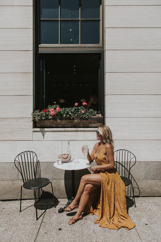 Photos by Paige Owen Faithfull The Brand Dress , Sabo Skirt Earrings,  Chloé  Bag, Zara Shades (similar  here )