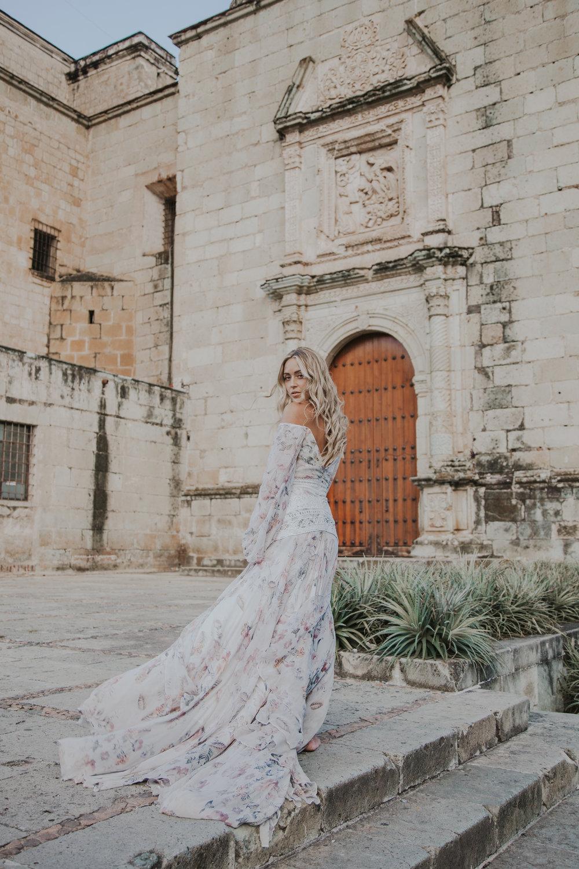 Photos by Paige Owen  Rue De Seine   Nahla Bridal Dress  via  Lovely Bride  Leah Alexandra Necklace, Monica Vinader Ring, MiaDonna Heart Ring
