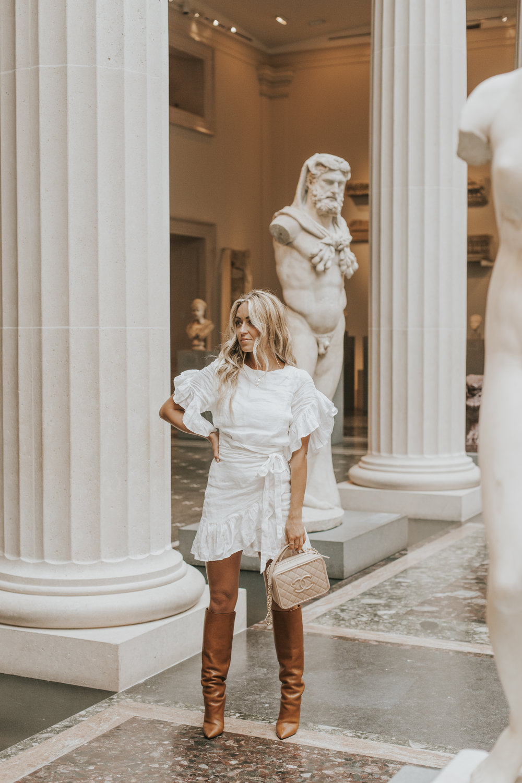 Photos by Paige Owen Isabel Marant Dress, Saint Laurent Boots, Chanel Bag