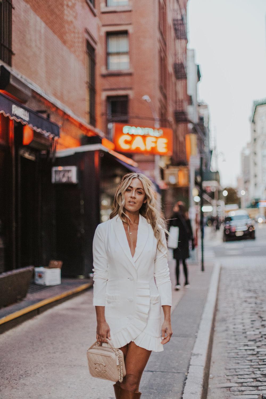 Photos by Paige Owen Dynamite Jumpsuit, By Far Shoes  Lovers + Friends  Dress via  Revolve , Saint Laurent Boots