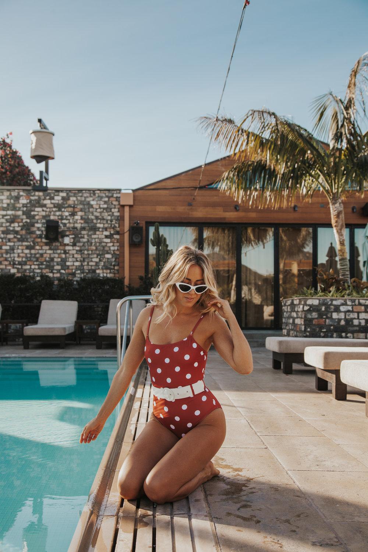 Photos by Paige Owen Solid & Striped Suit, Zara Sunglasses