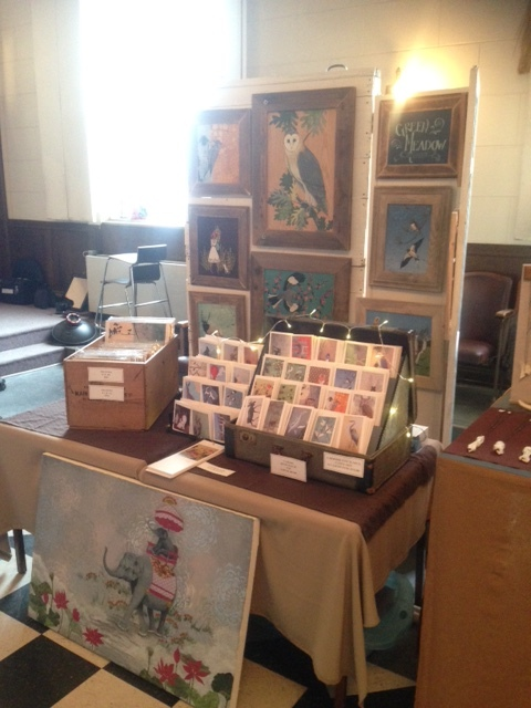 My booth at the Horseshoe Holiday Market.  This market was truly amazing!