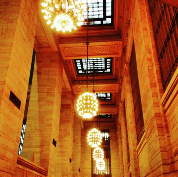 Lights in Grand Central Station, NYC, 2015.