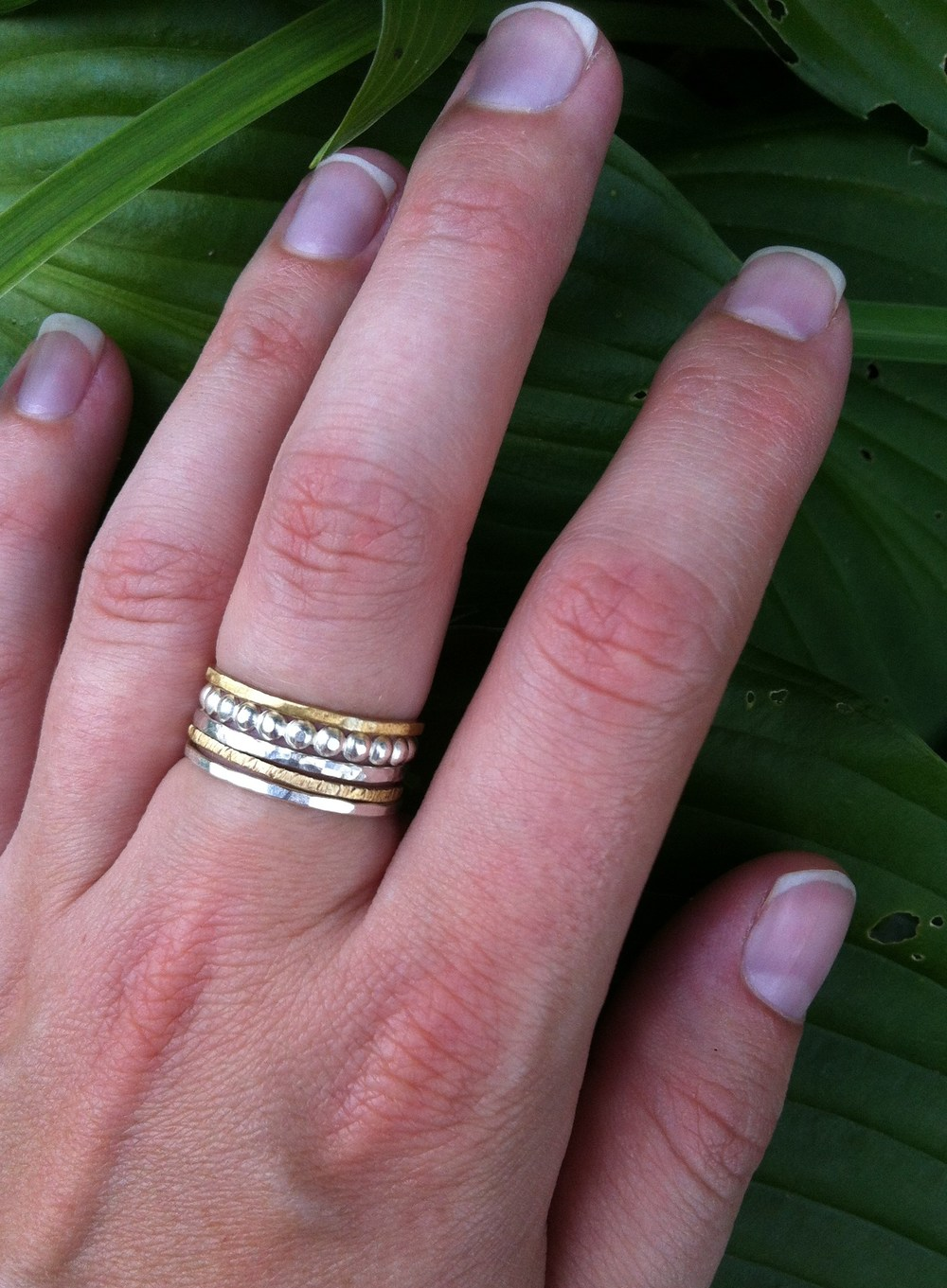 Stacker Rings  : These can come in such a variety. Choose your amount, your type of metal & type of design/stamping. This is a top seller probably because they are so versatile! They can be understated or a statement piece.