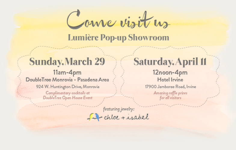 Lumiere Pop-up Showroom March