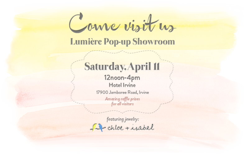 Lumière Pop-up Showroom April 11