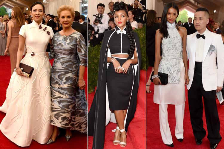 Zhang Ziyi in Carolina Herrera Janelle Monae in H&M Liya Kebede in Phillip Lim