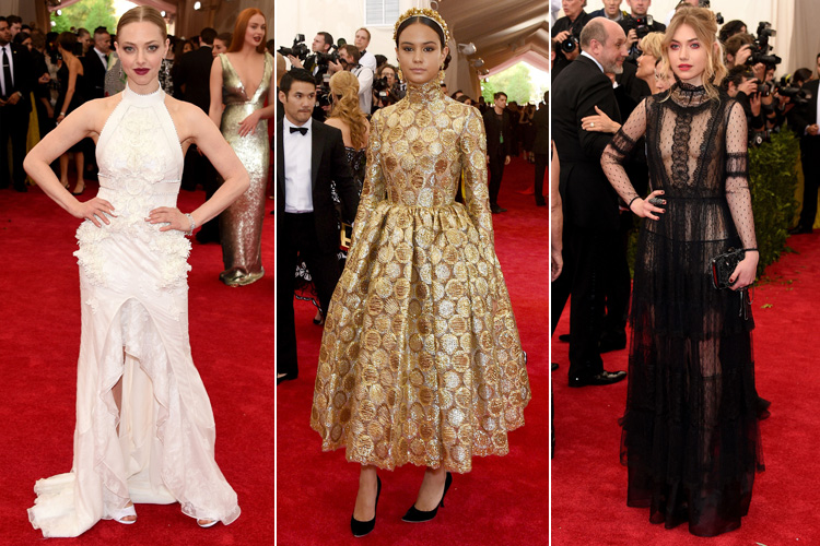 Amanda Seyfried in Givenchy Courtney Eaton in Dolce & Gabbana Imogen Poots in AlbertaFerretti