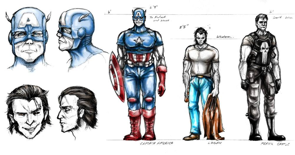 Marvel Character Design Behance : Marvel character design — jeff carpenter