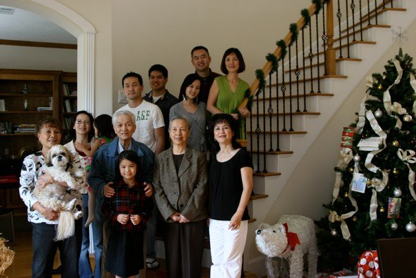 Family photo in Houston in 2008.