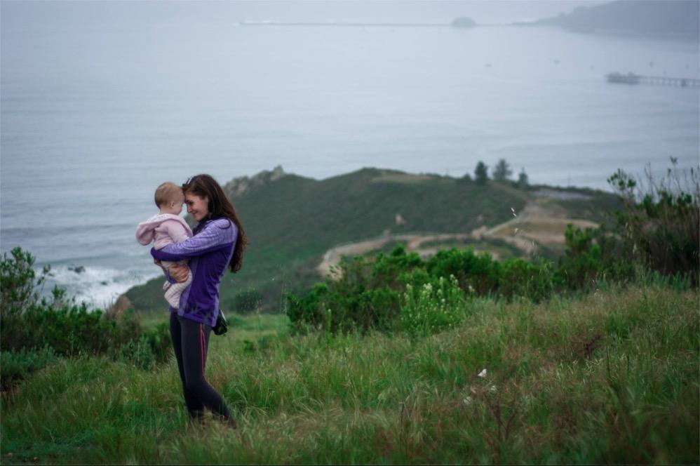 Ysabella Jones and Daughter, Josephina in Pismo Beach, California Hike