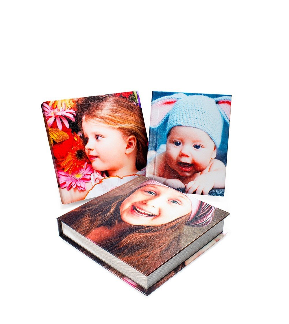 HARD COVER  | Standard cover is a quality-bound rigid cover with a protective sheen and textured surface. Offers full image wrap-around.