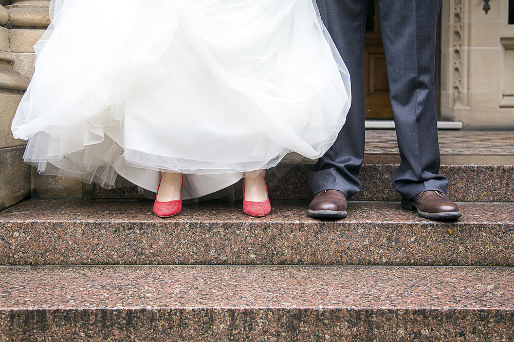Wedding Photography at Adelaide Uni - Feet