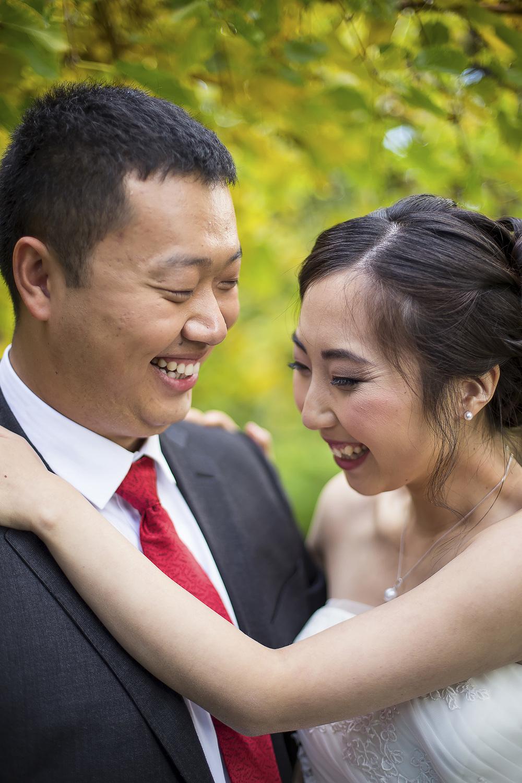 Wedding Photography Adelaide Japanese Himeji Gardens laughing 2