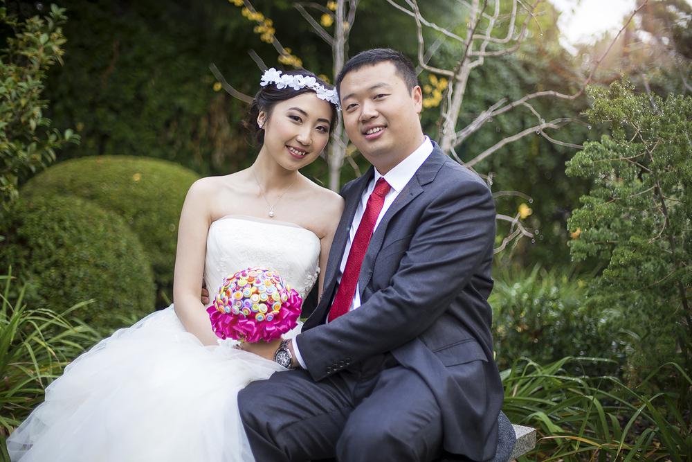 Wedding Photography Adelaide Japanese Himeji Gardens subtle lens flare 1