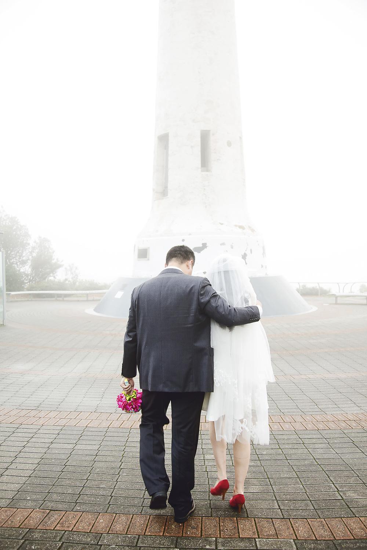 Foggy Mount Lofty Wedding Portrait 1