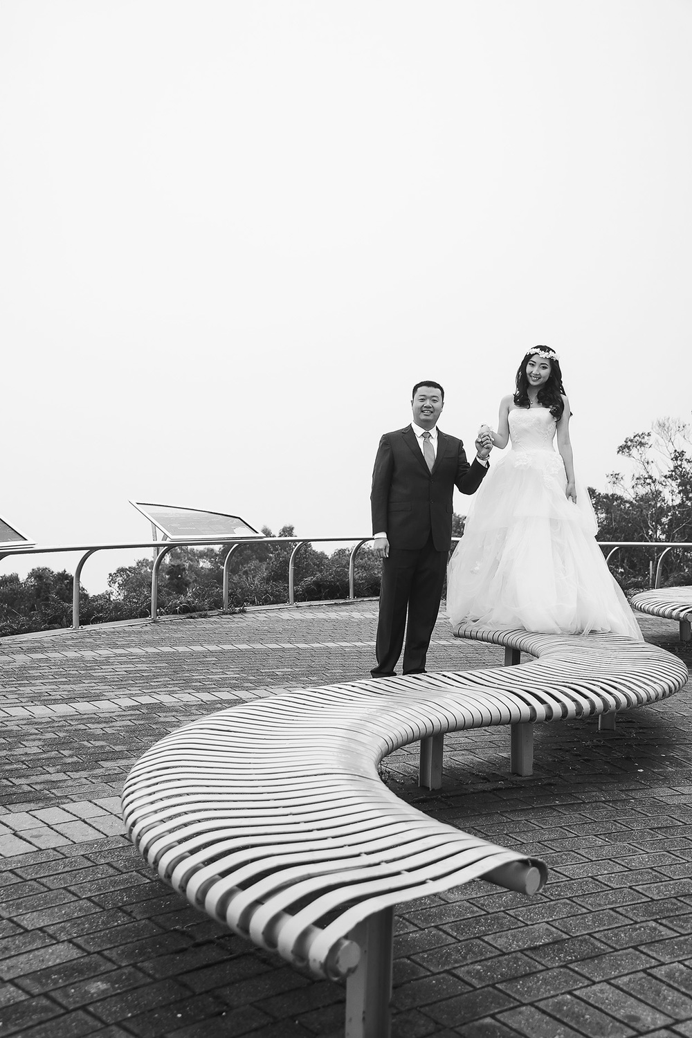 Artistic Black and White Wedding Photo 3