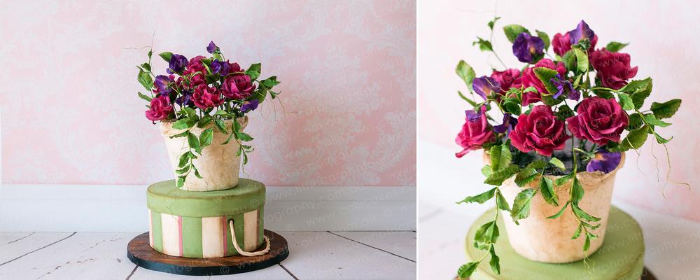 8 Wedding Photography of Sugar Art Flower Pot Cake.jpg