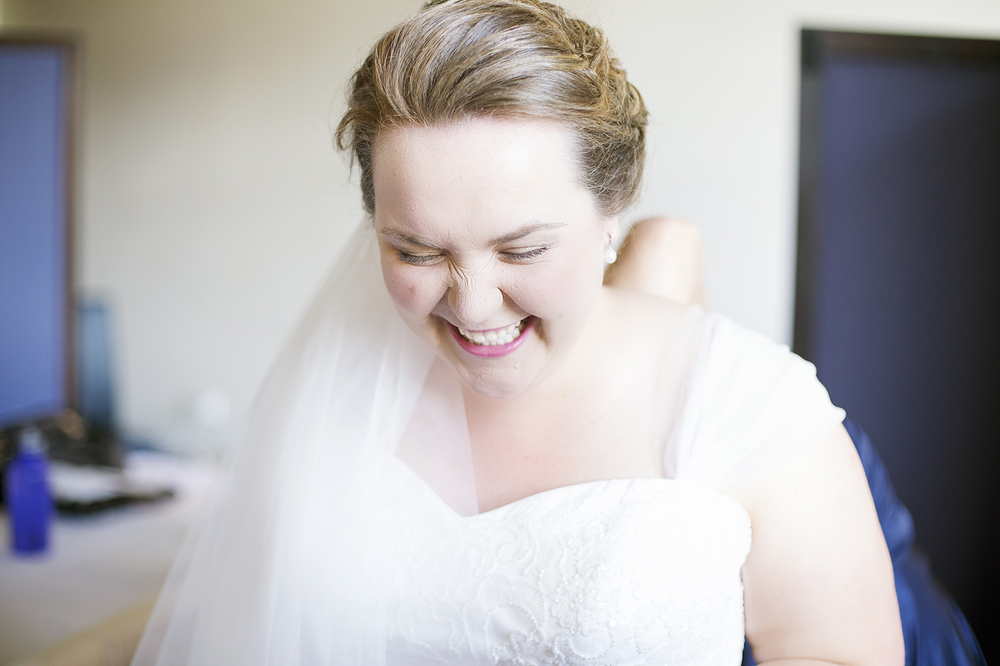 Chateau Tanunda Wedding Bride Laughing Portrait.jpg