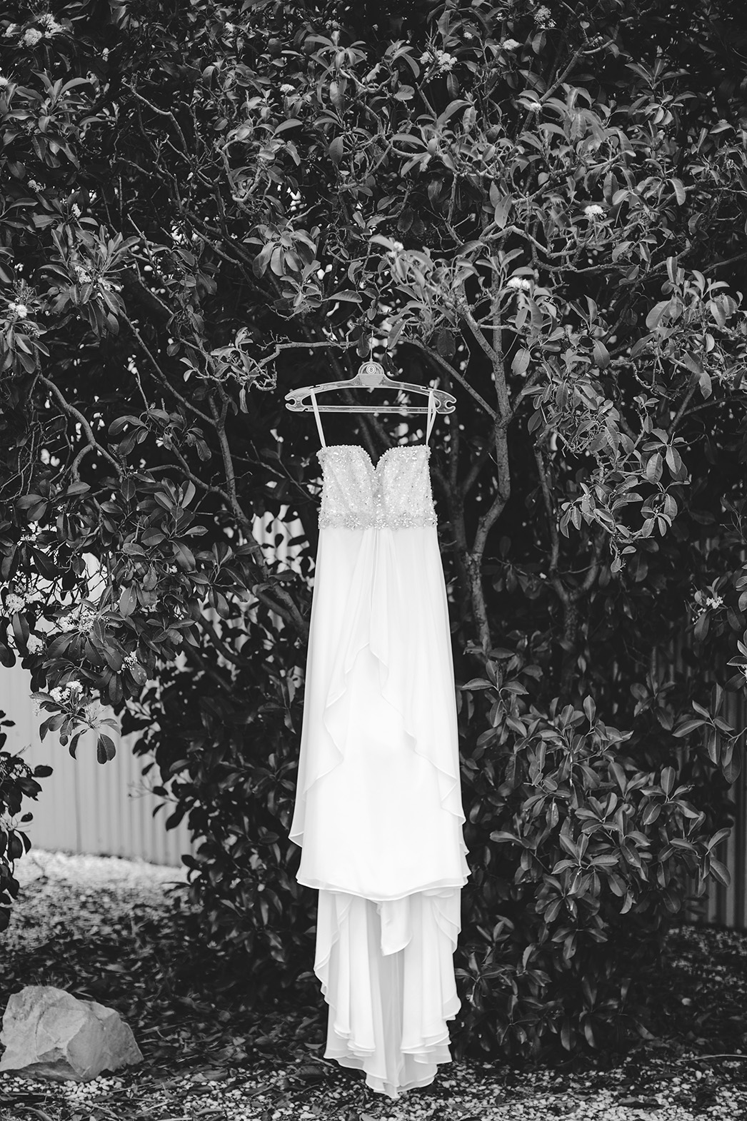 Adelaide wedding bride preparation photo 03 black white dress jpg