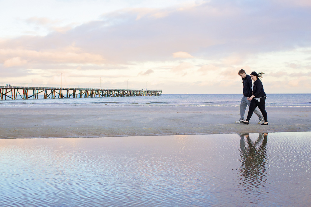 Semaphore Sunrise Beach Engagement Photos 07.jpg