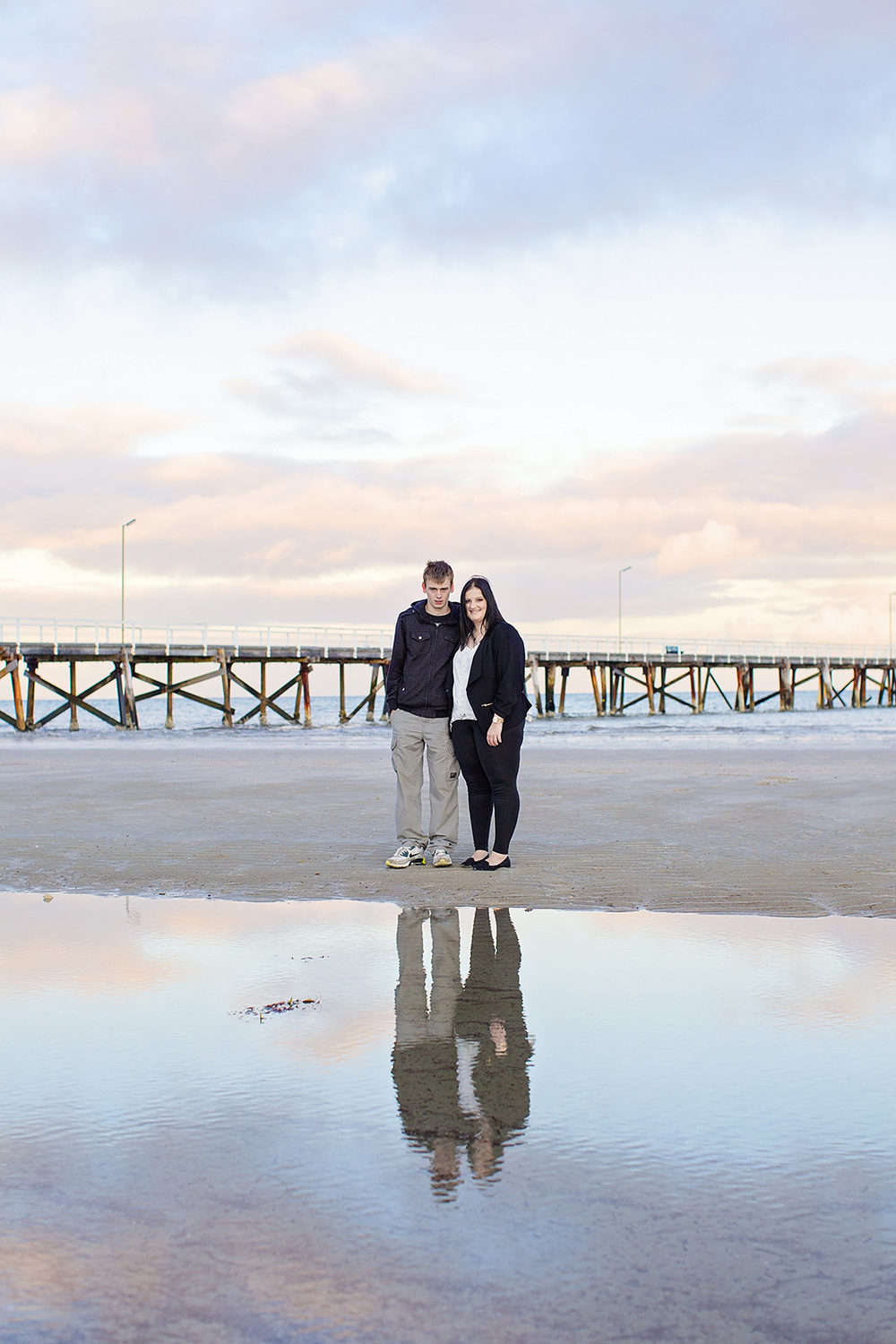 Semaphore Sunrise Beach Engagement Photos 08.jpg