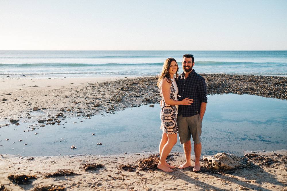 Beach sunset engagement photos willunga 003.jpg