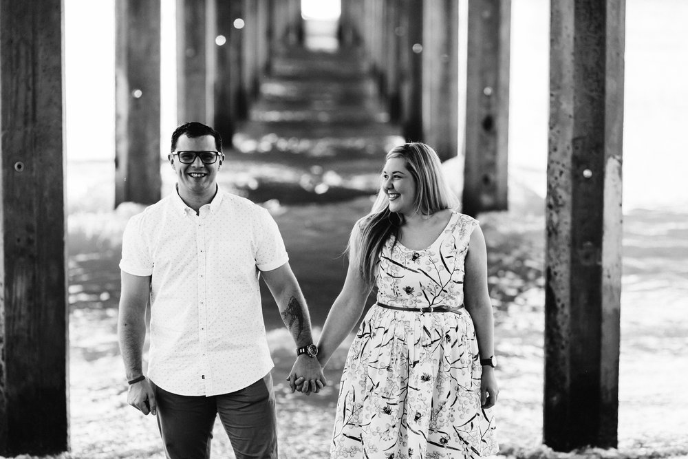 Fun Brighton Beach Sunset Engagement 004.jpg