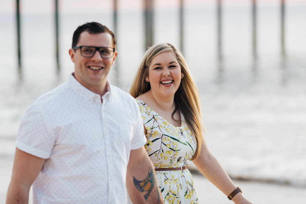 Fun Brighton Beach Sunset Engagement 008.jpg