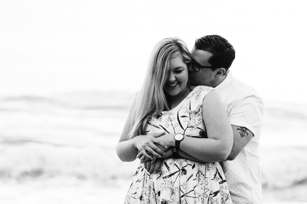 Fun Brighton Beach Sunset Engagement 010.jpg